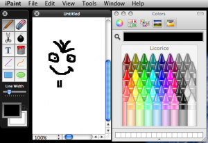 this is what iPaint looks like on my Mac